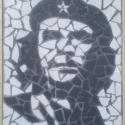 Che Guevara, Dekoráció, Otthon, lakberendezés, Kép, Falikép, Mozaik, Újrahasznosított alapanyagból készült termékek, Mázas kerámia mozaik fa keretben. Méret: 30 cm x 40 cm  Személyes átvétel lehetséges megbeszélés sz..., Meska