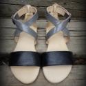 Egyedi szandál H MadeS H O E  (38), Ruha, divat, cipő, Cipő, papucs, Bőrművesség, Varrás, Egyedi tervezésű és kivitelezésű cipők, minden modell, az éppen aktuális anyagok által születnek, m..., Meska