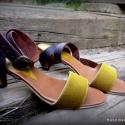 H madeS H O E  női szandál  (36 37 38..-os), Ruha, divat, cipő, Cipő, papucs, Bőrművesség, Varrás, A magassarkú mindig kihívás...  Egyedi tervezésű és kivitelezésű cipők, minden modell, az éppen akt..., Meska