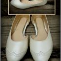 Esküvői cipellő , Ruha, divat, cipő, Cipő, papucs, Bőrművesség, Varrás, Egyedi tervezésű és kivitelezésű cipők, minden modell, az éppen aktuális anyagok által születnek, me..., Meska