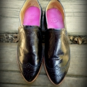 """""""Budapest"""" cipő női :), Ruha, divat, cipő, Cipő, papucs, Bőrművesség, Varrás, bebújós sportos-elegáns bőr cipő  Saját tervezés, szempont a zártsága és a kényelmes használat volt..., Meska"""