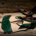 """""""greenPeAcE"""" szandál a trópusokra, Ruha, divat, cipő, Cipő, papucs, Bőrművesség, Varrás, Hiába van hideg, van aki most megy nyaralni :)  Egyedi tervezésű és kivitelezésű cipők, minden mode..., Meska"""