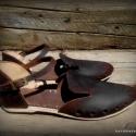 ..natúr kényelem szandi..., Ruha, divat, cipő, Cipő, papucs, Bőrművesség, Varrás, ...tökéletesen kényelmes kis álomcipellő született belőle :)  Egyedi tervezésű és kivitelezésű cipő..., Meska
