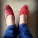REDS topánka pici szőrrel, Ruha, divat, cipő, Cipő, papucs, Bőrművesség, Varrás, Egyedi tervezésű és kivitelezésű cipők, minden modell, az éppen aktuális anyagok által születnek, m..., Meska