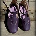 Női szandál   H MadeS H O E  , Ruha, divat, cipő, Cipő, papucs, Bőrművesség, Varrás, Egyedi tervezésű és kivitelezésű cipők, minden modell, az éppen aktuális anyagok által születnek, m..., Meska