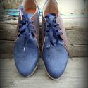 Blue - Brown női cipő, Ruha, divat, cipő, Cipő, papucs, Bőrművesség, Varrás, Saját tervezés, szempont a zártsága és a kényelmes használat volt.  Teljesen tökéletes kényelmes vi..., Meska