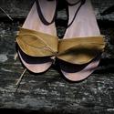 """WOOD"""" design szandál a trópusokra, Ruha, divat, cipő, Cipő, papucs, Bőrművesség, Varrás, Hiába van hideg, van aki most megy nyaralni :)  Egyedi tervezésű és kivitelezésű cipők, minden mode..., Meska"""