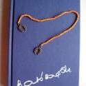 Könyvjelző - narancssárga - Patkókkal, Mindenmás, Férfiaknak, Hamar megszereted, szívedhez nő ez a praktikus és szép könyvjelző.  A könyvbe a gyöngysor kerül, a d..., Meska