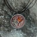 Cupido kávékapszula medál , Ékszer, óra, Medál, Nyaklánc, Célba lövő Cupido medál romantikus lelkeknek. :)  A medál alapja újrahasznosított, rózsaszín kávékap..., Meska