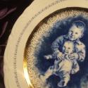 Unokáim porcelán portré tányér, Esküvő, Otthon, lakberendezés, Dekoráció, Nászajándék, , Meska