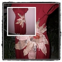 design ruha, Ruha, divat, cipő, Baba-mama-gyerek, Női ruha, Blúz, Varrás, Meggyübordó pamut ruha.oldalát szinták batikolt pamut virággal.szimetrikusk egyedi gyöngyökel diszi..., Meska