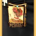 szilikonos design táska, Baba-mama-gyerek, Táska, Ruha, divat, cipő, Válltáska, oldaltáska, Festett tárgyak, Varrás, Egyedi saját tervezés és kivitelezés.. a táskát transzferaltam,majd szilikonból készitettem rá disz..., Meska