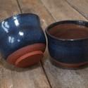 Japános kerámia teáscsésze 2 darab (kék-rusztikus), Konyhafelszerelés, Otthon, lakberendezés, Kerámia, Durva samottos agyagból készült 1200 fokon tömörre égetett japános teáscsészék.Az ilyen magastűzön ..., Meska