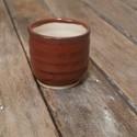 Kerámia  japános kicsi teáscsésze (tenmoku-fehér), Otthon, lakberendezés, Konyhafelszerelés, Bögre, csésze, Kerámia, Pöttyös agyagból készült, magastűzön (1200 fokon) tömörre égetett kis méretű japános teáscsésze,  A..., Meska
