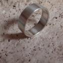 Férfi ezüst karika  gyűrű, Férfiaknak, Ékszer, óra, Gyűrű, Ötvös, Ékszerkészítés, Ezüst gyűrű mérete 66os,súlya6,4gr.szélessége 7.1mm.925ös ezüstből készült,fémjellel ellátva. kívül..., Meska