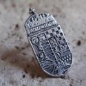 Nagy Magyarország címer, Férfiaknak, Magyar motívumokkal, Mindenmás, Ékszer, óra, Fémmegmunkálás, Ötvös, 925-ös ezüstből készítettem ezt a kitűzőt,mely fémjellel van ellátva.Nagy Magyarország címer ,apról..., Meska