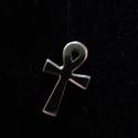 ankh kereszt fülbevaló, Ékszer, óra, Férfiaknak, Fülbevaló, Ékszerkészítés, Ötvös, 925-ös ezüstből készítettem ezt a mini ank keresztet bedugós fülbevalót az örök élet szimbóluma-  m..., Meska