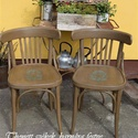 KÉSZLETSÖPRÉS! Thonett szék barokk mintával , Bútor, Otthon, lakberendezés, Szék, fotel, Festett tárgyak, Thonet szék barnára festve, díszítve majd antikolva! 2 db van belőle, darabonként is kérhető! , Meska