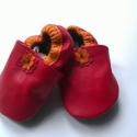 Babacipő, Baba-mama-gyerek, Ruha, divat, cipő, Cipő, papucs, Gyerekruha, Bőrművesség, Pihe-puha bőr babacipő. A tiszta bőr cipő, egyaránt használható kocsicipőként illetve beltéri cipők..., Meska