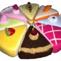 játék étel- tépőzáras egész torta, Játék, Készségfejlesztő játék, Varrás, Amikor játék az étel...  A kislányok egyik legkedvesebb játéka a főzős játék.Az általam gyártott és..., Meska