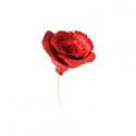 Kerámia rózsa, Dekoráció, Esküvő, Dísz, Kerámia, Festett tárgyak, Kézzel készített kerámia rózsa sárgaréz száron. A rózsafej átmérője kb 5cm.  A képeken látható szín..., Meska