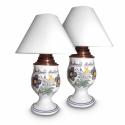 Habán asztali lámpa pár , Magyar motívumokkal, Otthon, lakberendezés, Lámpa, Asztali lámpa, , Meska
