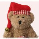 Nosztalgia Teddy mackó , Játék, Baba-mama-gyerek, Baba-és bábkészítés, Varrás, Teddy mackó mikulás sapkát öltött.... a végére egy csengettyűt is kapott, mert jól viselkedett. :) ..., Meska