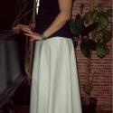 Fehér vászon szoknya, Baba-mama-gyerek, Ruha, divat, cipő, Női ruha, Szoknya, Varrás, Fehér vászonból készült, 6 részből szabott, enyhén loknis szoknya.   Nagyon kellemes viselet. Színe..., Meska