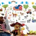 Háziállatok és farm áthelyezhető falmatrica szett, Dekoráció, Baba-mama-gyerek, Gyerekszoba, Falmatrica, Fotó, grafika, rajz, illusztráció, Most már ÁTLÁTSZÓ vinilen is kapható!  Mi lehet egészségesebb és izgalmasabb gyermeked számára, min..., Meska
