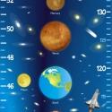 Naprendszer áthelyezhető magasságmérő falmatrica, Dekoráció, Baba-mama-gyerek, Falmatrica, Gyerekszoba, Fotó, grafika, rajz, illusztráció, Naprendszerünk összes bolygójával és az űrt kutató rakétával gyermeked úgy fogja érezni, hogy a vil..., Meska