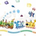 Állatkert vonat áthelyezhető falmatrica szett, Baba-mama-gyerek, Dekoráció, Gyerekszoba, Falmatrica, Fotó, grafika, rajz, illusztráció, Most már ÁTLÁTSZÓ vinilen is kapható!   Varázsold át gyermeked szobáját ezzel az állatbarát vasútta..., Meska