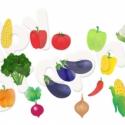 Zöldségek áthelyezhető falmatrica szett, Baba-mama-gyerek, Dekoráció, Gyerekszoba, Falmatrica, Fotó, grafika, rajz, illusztráció, A piac mostanság egy mindenféle pirosban, zöldben, lilában, narancssárgában és sárgában pompázó szi..., Meska