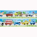 Járművek bordűr áthelyezhető falmatrica, Baba-mama-gyerek, Dekoráció, Gyerekszoba, Falmatrica, Fotó, grafika, rajz, illusztráció, Legtöbb kisfiú imádja a különböző járműveket, amelyeket úton az oviba, a játszótéren hintázás közbe..., Meska