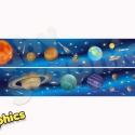 Naprendszer bordűr áthelyezhető falmatrica, Baba-mama-gyerek, Dekoráció, Gyerekszoba, Falmatrica, Fotó, grafika, rajz, illusztráció, Naprendszerünk összes bolygójával és a galaxist kutató űrhajókkal gyermeked úgy fogja érezni, hogy ..., Meska
