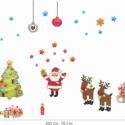Karácsony áthelyezhető falmatrica szett, Dekoráció, Falmatrica, Karácsonyi, adventi apróságok, Karácsonyi dekoráció, Fotó, grafika, rajz, illusztráció, Karácsony áthelyezhető falmatrica szett  Kelts egy kis karácsonyi hangulatot ezzel a vidám falmatri..., Meska