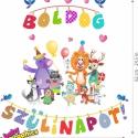 Boldog szülinapot! áthelyezhető falmatrica szett, Baba-mama-gyerek, Dekoráció, Otthon, lakberendezés, Falmatrica, Fotó, grafika, rajz, illusztráció, Boldog szülinapot! áthelyezhető falmatrica szett  Gyermekeink számára egy születésnapi buli végtele..., Meska