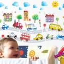Régi autók áthelyezhető falmatrica szett, Baba-mama-gyerek, Dekoráció, Gyerekszoba, Falmatrica, Fotó, grafika, rajz, illusztráció, Régi autók áthelyezhető falmatrica szett  Legtöbb kisgyermek imádja az érdekes járműveket, amelyeke..., Meska