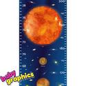NAGY Naprendszer magasságmérő falmatrica, Baba-mama-gyerek, Dekoráció, Gyerekszoba, Falmatrica, Fotó, grafika, rajz, illusztráció, NAGY naprendszer magasságmérő (200 cm) falmatrica  Naprendszerünk összes bolygójával és a világmind..., Meska