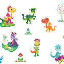 Sárkányok áthelyezhető falmatrica szett, Baba-mama-gyerek, Dekoráció, Falmatrica, Gyerekszoba, Fotó, grafika, rajz, illusztráció, Dinoszaurusz- és sárkánybarátoknak készítettük ezt a sárkányos áthelyezhető falmatrica szettet. Ez ..., Meska