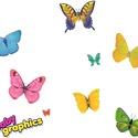 NAGY pillangók áthelyezhető falmatrica szett, Dekoráció, Baba-mama-gyerek, Falmatrica, Gyerekszoba, Fotó, grafika, rajz, illusztráció, NAGY pillangók áthelyezhető falmatrica szett  A nyári napsütés melegére bukkantak fel ezek a pompás..., Meska