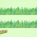Tavaszi fű bordűr áthelyezhető falmatrica, Baba-mama-gyerek, Dekoráció, Gyerekszoba, Falmatrica, Fotó, grafika, rajz, illusztráció, Az enyhe tél majdnem véget ért és az erdőben és parkban zöldül a fű, amely a tavaszi virágok bimbóz..., Meska