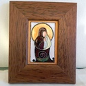 Tűzzománc kép, Dekoráció, Képzőművészet, Kép, Tűzzománc, Ötvös, Madonnát ábrázoló tűzzománc kép  Mérete kerettel együtt :14 cm x 17 cm , Meska