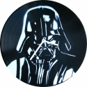 Bakelit ra Darth Vader - MarNemSoul Collection, Dekorci, Otthon, lakberendezs, Frfiaknak, Falira, Festszet, jrahasznostott alapanyagbl kszlt termkek, Rgi, nem hasznlatos bakelitlemezbl ksztettem. A festmny rajta street art stlus, stencil-tech..., Meska