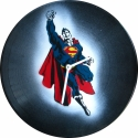 Bakelit ra Superman - MarNemSoul Collection, Dekorci, Otthon, lakberendezs, Frfiaknak, Falira, Festszet, jrahasznostott alapanyagbl kszlt termkek, Rgi, nem hasznlatos bakelitlemezbl ksztettem. A festmny rajta street art stlus, stencil-tech..., Meska