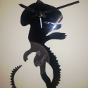 Alien óra, Ékszer, óra, Bútor, Otthon, lakberendezés, Karóra, óra, Újrahasznosított alapanyagból készült termékek, Fotó, grafika, rajz, illusztráció, Remek szórakozás a remek Ridley Scott filmbeli óra. Alien Ripley is már ezen nézte az időt :D, Meska