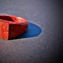 Red mallee gy?r?, Ékszer, óra, Gy?r?, Ékszerkészítés, Famegmunkálás, Red mallee fából készült a furat mérete: 18.5 mm Lenolajjal és méhviasszal felület kezelve., Meska