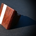 Nagy méret? pecsét gy?r?, Ékszer, óra, Gy?r?, Ékszerkészítés, Famegmunkálás, Sheoak és juhar fából készült a furat merete : 18.5 mm  a gy?r? teteje 27.7 mm x 29 mm lenolajjal é..., Meska