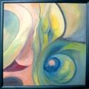 Metamorfózis, Dekoráció, Képzőművészet , Kép, Festmény, Festészet, Metamorfózis 70x70 cm olajfestmény, farost , Meska