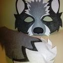 Farkas maszk+farkinca, Játék, Varrás, Filc anyagból aprólékos munkával,igényesen megvarrt farkas álarc és farkinca. Tartós így akár több ..., Meska