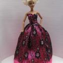 Barbie ruha / Ciklámen, Játék, Ruha, divat, cipő, Baba, babaház, , Meska